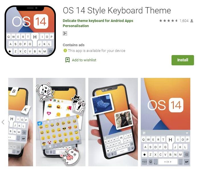 IOS 14 keyboard theme
