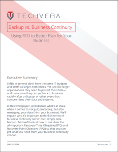 Backup vs. Business Continuity