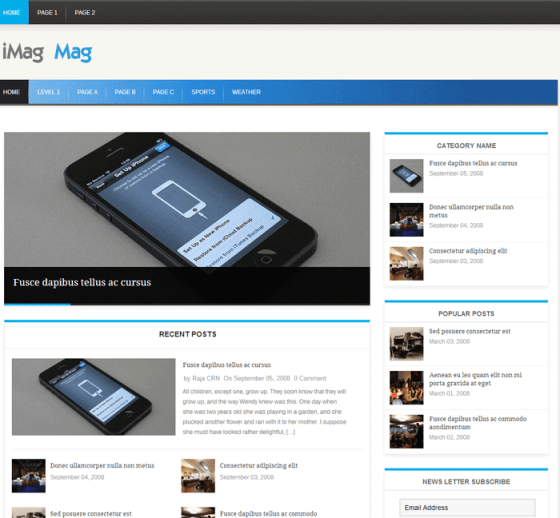 iMag-Mag---Just-another-ThemePacific-Demo-site