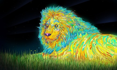 psychedelic_desktop lion