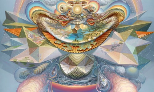 psychedlic art poster complex imagery auhusca