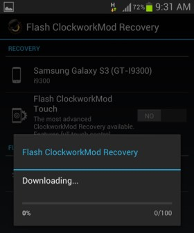 Rom-manager-downloading-clockworkmod-recovery
