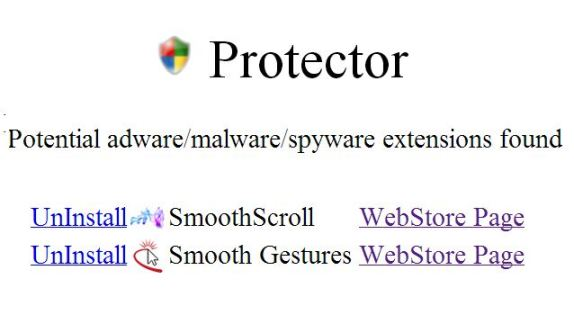 potential malware found in google chrome extension