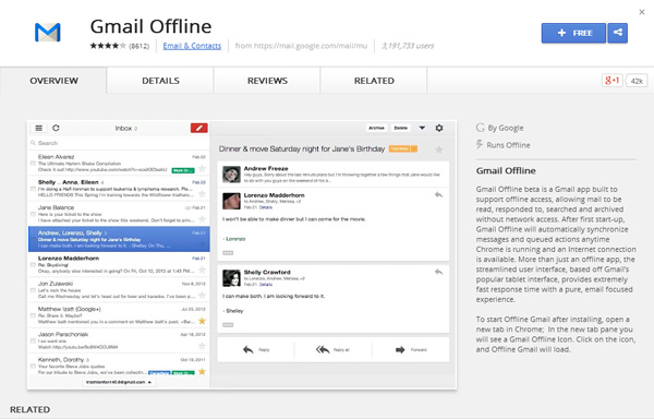How To Access And Use Gmail Offline In Google Chrome