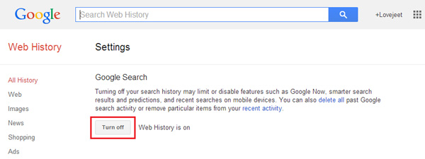 Turn-off-Google-search-history