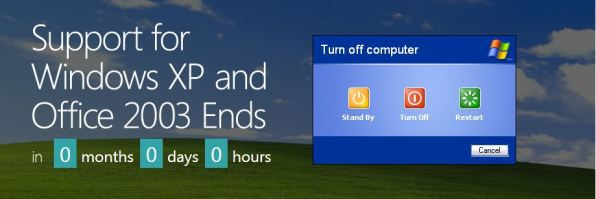 windows xp support ends