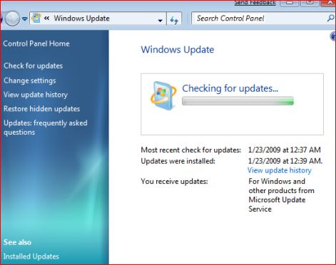 Windows Updates-How to Check for Windows Updates