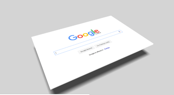 Google on Business Card
