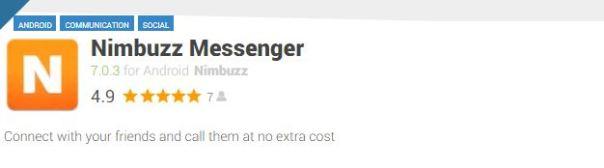 Nimbuzz Messenger-Facebook Apps for Mobile Phones