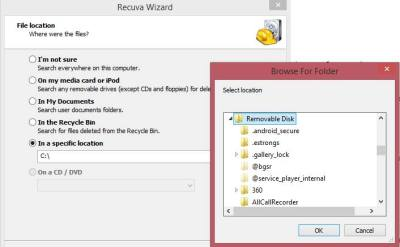 Recover Using Recuva File Recovery