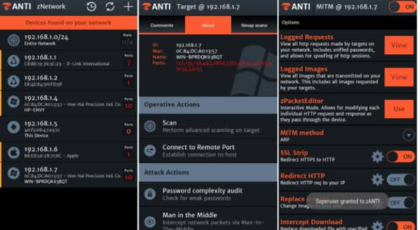 ZAnti Penetration Testing Android Hacking Toolkit