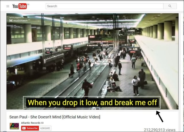 Automatically Get Lyrics in YouTube Videos In Google Chrome