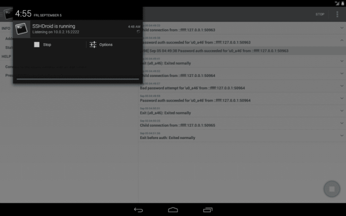 SSHDroid- Android Secure Shell