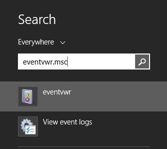 Open event viewer