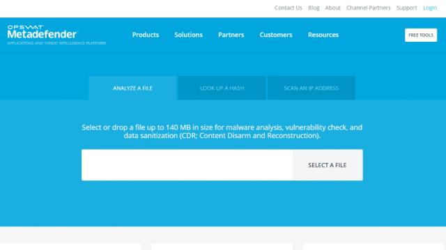 Metadefender Online Scanner