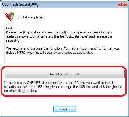 Sécurité Flash USB