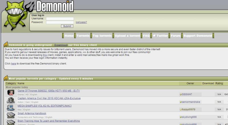 Demonoid.to