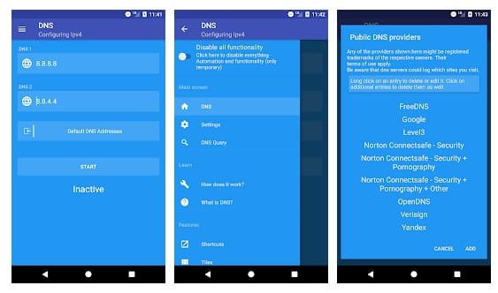 Change Default DNS To Google DNS On Android