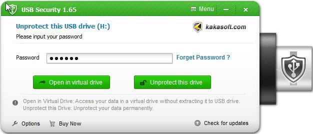 Utilisation de Kakasoft USB Security