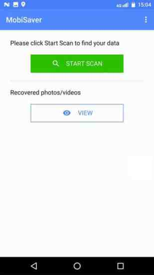 Tap on the 'Start Scan' button