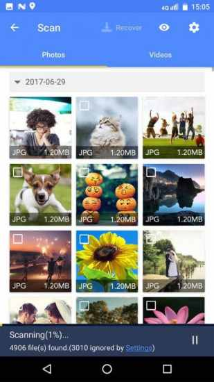 Select the 'Photo' tab and then mark the photos