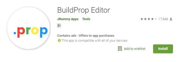 Download & install BuildProp Editor