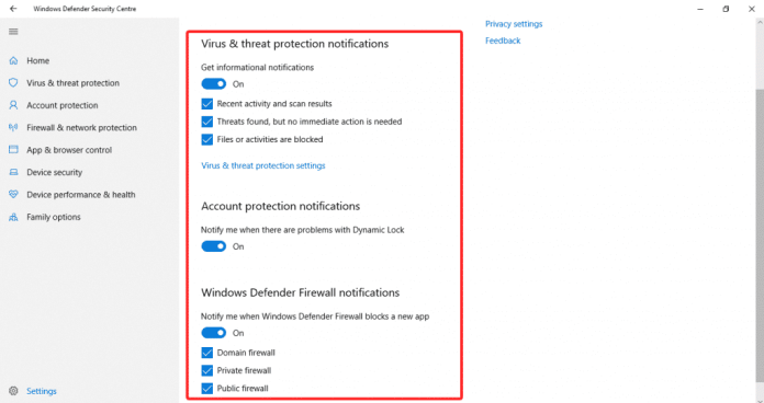Win 9 1024x541 - How To Disable Windows Defender Notifications On Windows 10