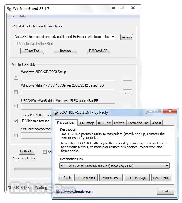 outils USB de démarrage