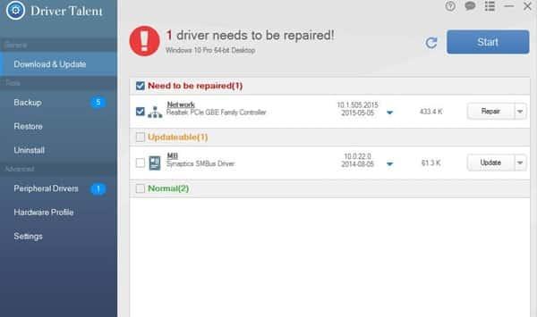 réparer l'erreur de 'l'ordinateur a redémarré