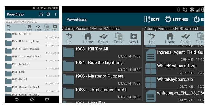 Gestionnaire de fichiers PowerGrasp