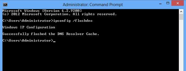 Supprimer le cache DNS