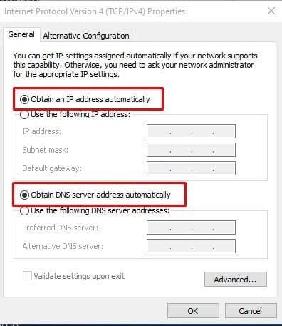 Remove the Static IP Address