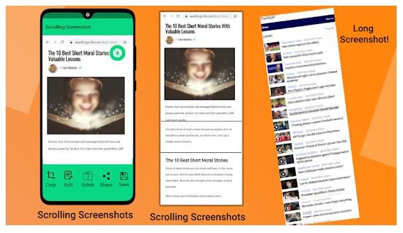 Screenshot Pengguliran Mudah