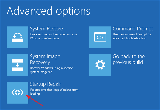 Safe Mode Startup Repair Windows 10