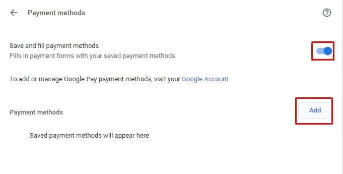 Aktifkan 'Simpan dan isi metode pembayaran'
