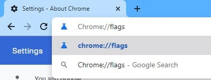enter 'chrome://flags' in the address bar