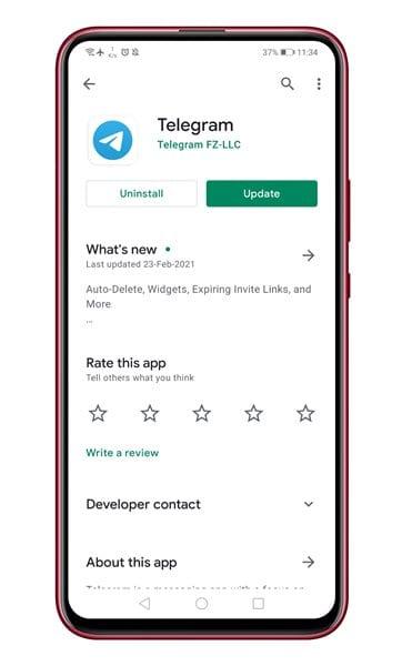 Update Telegram