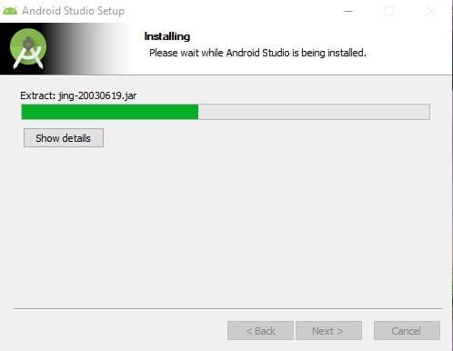 wait until the program installs