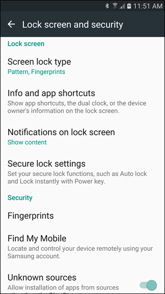 Android Lock Screen and Security