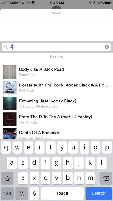 Spotify iMessage App