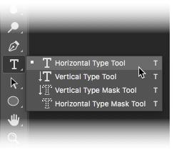 Photoshop CC 2018 - Horizontal Type