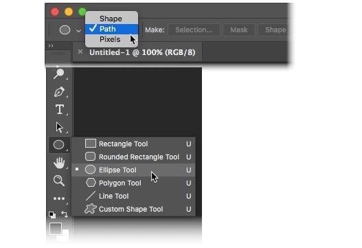 Photoshop CC 2018 - Select Shape & Path