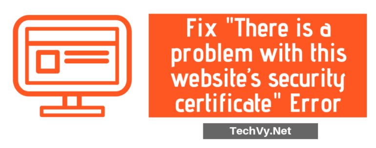 Fix problem with website security error