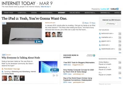コミュニティはメディアになる LinkedInがソーシャルニュースサイトに【湯川】