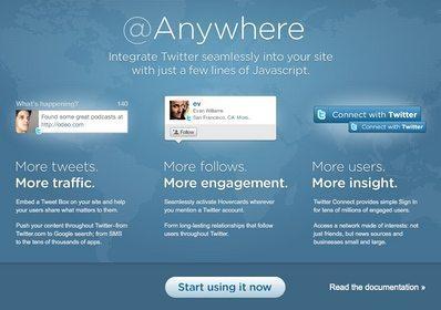 Twitter機能を自社サイトに数分で組み込める「@Anywhere」スタート (サンプルあり) 【増田(maskin)真樹】