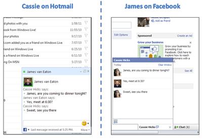 FacebookとHotmail間でチャット可能に Gmailにとって脅威?【湯川】