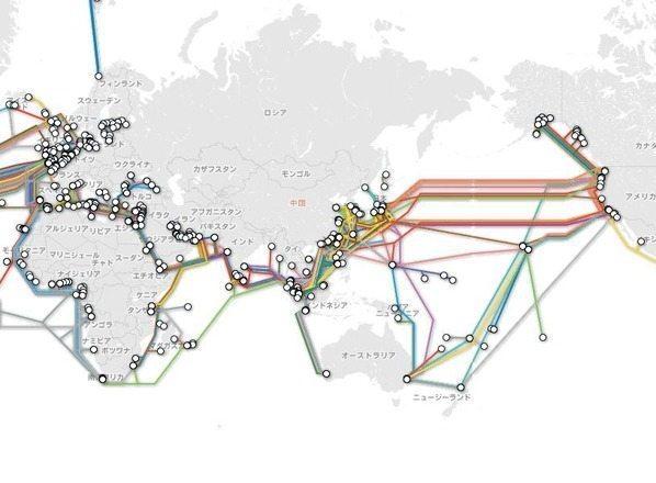 世界をつなぐ海底ケーブルの全貌が見られるマップ【増田(@maskin)真樹】