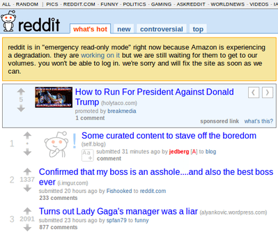 クラウド「AWS」が障害でダウン、Quora・Reddit・foursquare・Hootsuiteなど人気サイトが多数巻き添え 【増田(@maskin)真樹】