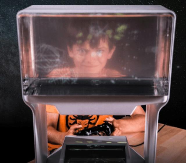 まるで光速船、ヘッドギア不要の3Dディスプレイ – Kickstarterで25万ドル集めたチームが挑戦
