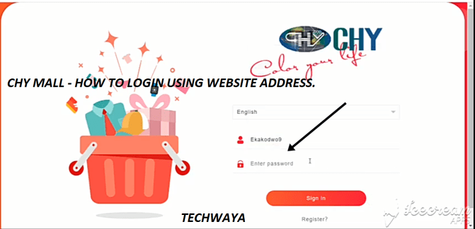 CHY MALL - HOW TO LOGIN USING WEBSITE ADDRESS.